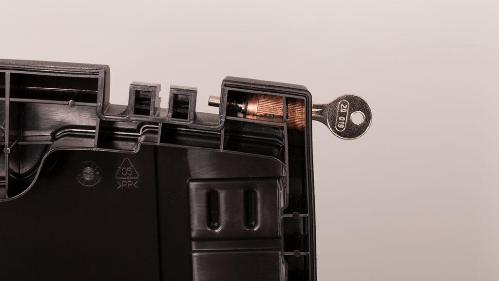 Verriegeltes Kofferschloss