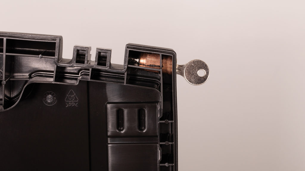 the unlocked case key-lock