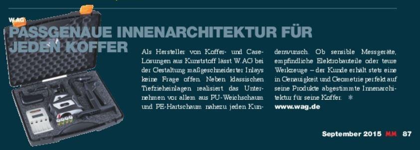 MaschinenMarkt Österreich über W.AG
