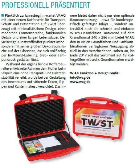 TWIST-Bericht Werbeartikel Nachrichten